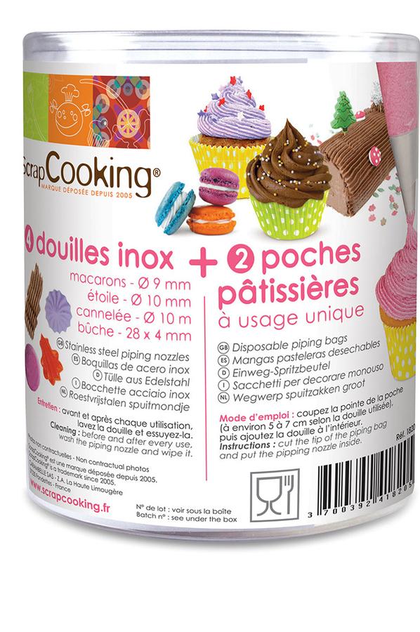 Ustensile de cuisine scrapcooking douilles inox 4111982 for Ustensile de cuisine en inox