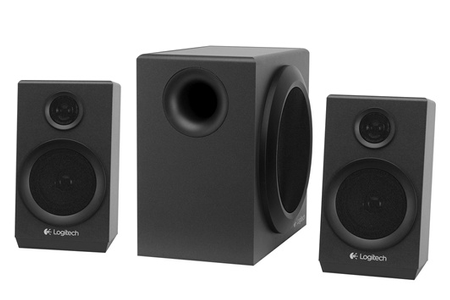 enceinte pc logitech speaker 2 1 z333 980 000953 darty. Black Bedroom Furniture Sets. Home Design Ideas