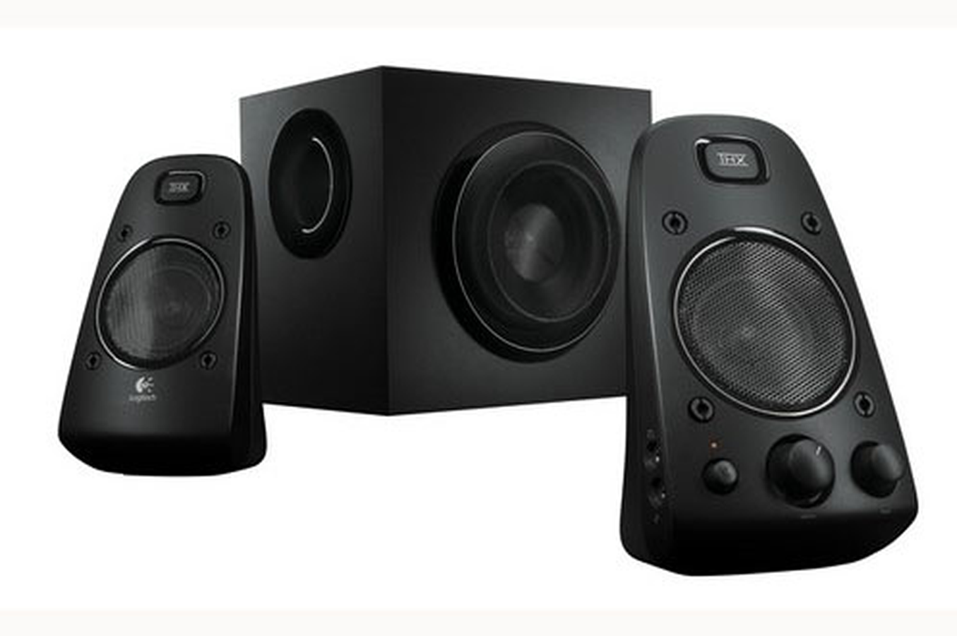 enceinte pc logitech speaker system z623 1326589 darty. Black Bedroom Furniture Sets. Home Design Ideas
