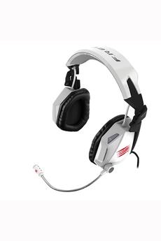 Casque micro / gamer Cyborg F.R.E.Q.5. Gloss Blanc pour PC / Mac Mad Catz