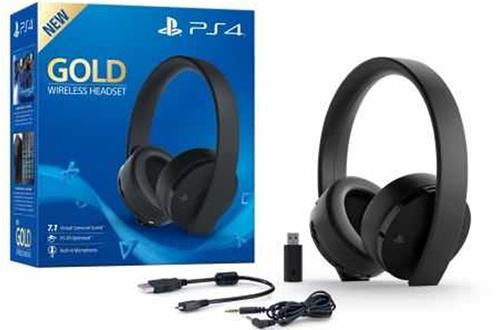 Casque micro / gamer Casque sans fil Sony Gold Noir pour PS4 Sony