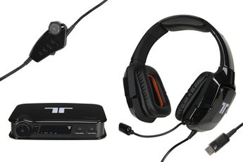 Casque micro / gamer PRO+ 5.1 Surround pour Xbox 360 / PS3 / PC / Mac Noir Tritton