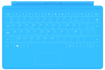 Clavier Clavier Touch Cover Bleu pour Surface Microsoft
