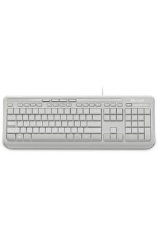 Clavier WIRED KEYBOARD 600 WHITE Microsoft