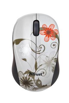 Souris Vivy Wireless Mini Mouse Grey Flowers Trust