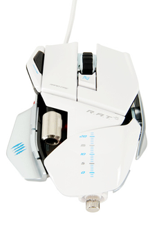 Souris gamer R.A.T 5 BLANC GLOSSY Mad Catz