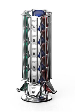 Porte capsules tavola swiss porte capsules rotatif ceylon pour 24 capsules darty - Porte capsules nespresso mural ...