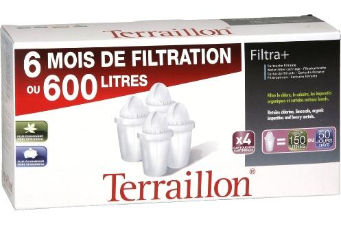 Cartouche filtre eau terraillon ctche filtra x4 1212150 - Cartouche carafe filtrante terraillon ...