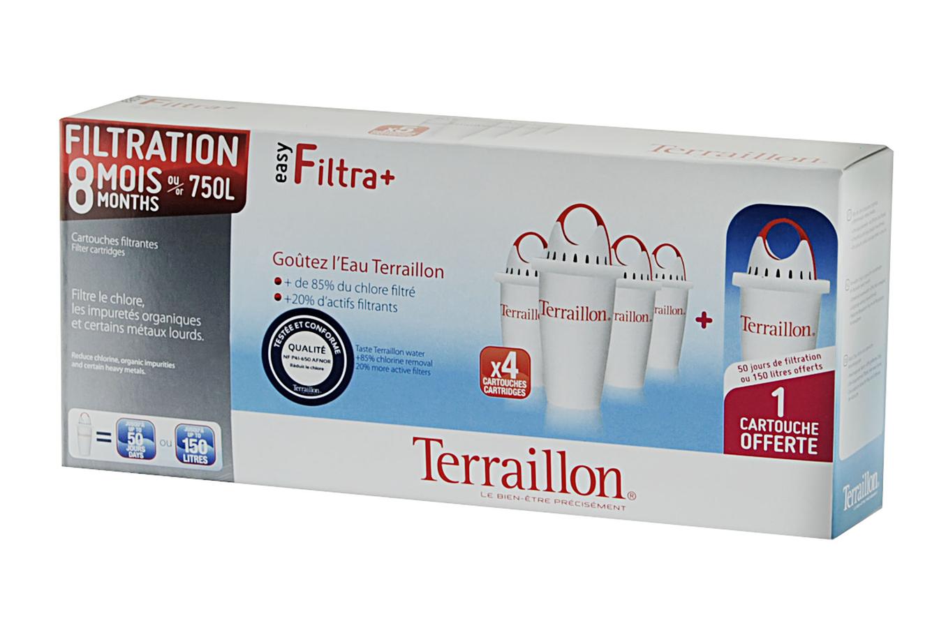 Cartouche filtre eau terraillon easy filtra 6 2 mois 1298330 darty - Cartouche filtrante terraillon ...