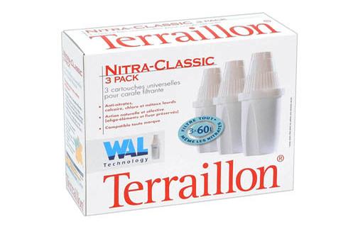 Cartouche filtre eau terraillon pack x3 nitrates 1062433 - Cartouche filtrante terraillon ...