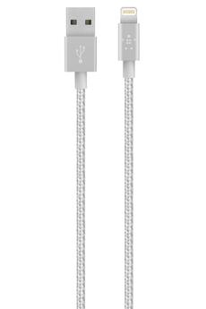Autres accessoires pour iPhone CABLE LIGHTNING 1,2M ARGENT Belkin