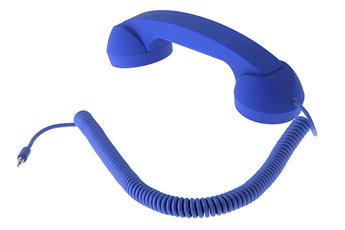Combiné pour téléphone mobile Pop phone bleu Native Union