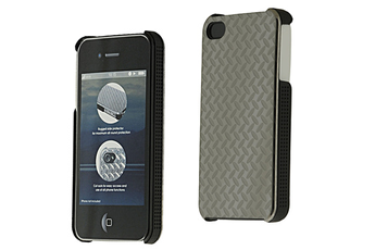 Housse pour iPhone HOUSSE STEEL IPHONE4 Qdos