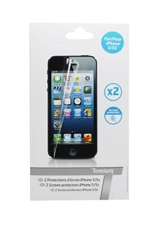 Protection d'écran pour smartphone PROTECTION ECRAN IPHONE 5/5S Temium