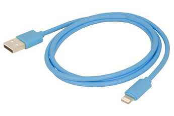 Chargeur pour iPhone CABLE LIGHTNING BLEU Urban Factory
