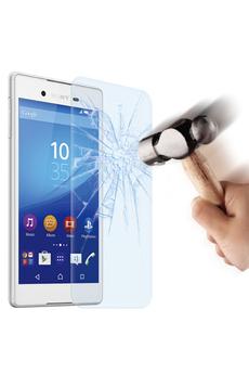Protection d'écran pour smartphone FILM DE PROTECTION EN VERRE TREMPE POUR SONY XPERIA Z3+ Muvit
