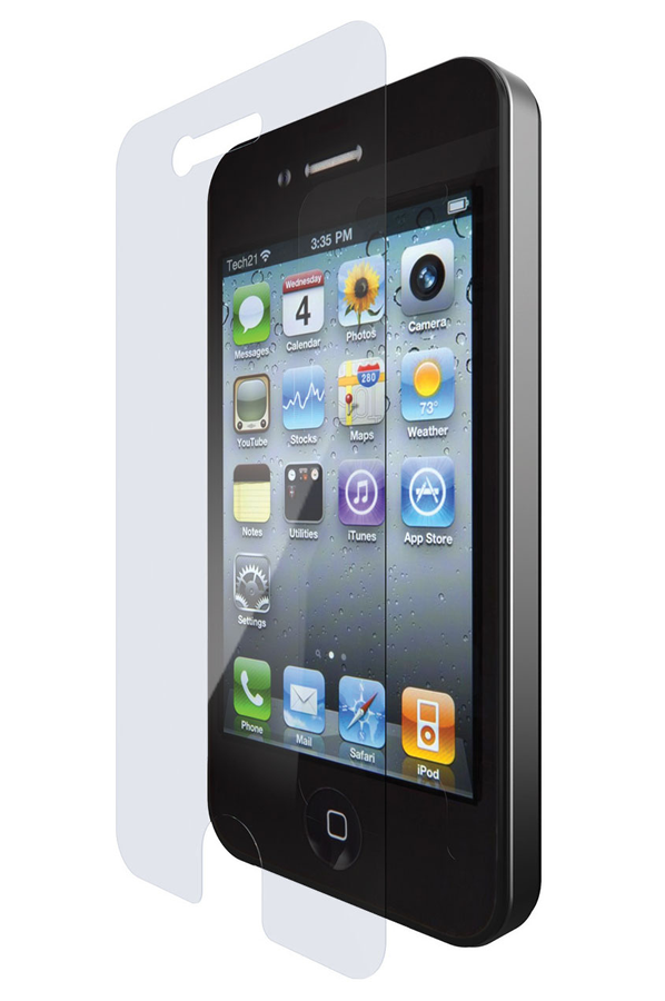 protection cran smartphone tech 21 protection d 39 ecran pour iphone 4 4s 4023200 darty. Black Bedroom Furniture Sets. Home Design Ideas