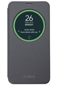 Housse et étui pour téléphone mobile ETUI VIEW FLIP COVER ARGENT POUR ASUS ZENFONE2 ZE550KL Asus