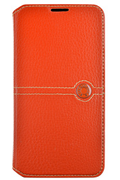 Faconnable ETUI FOLIO ORANGE POUR SAMSUNG GALAXY S5