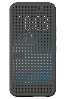 Housse et étui pour téléphone mobile FOLIO DOT VIEW COVER GRIS POUR HTC ONE M9 Htc