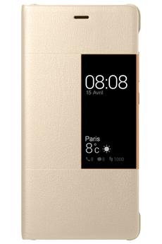 Housse et étui pour téléphone mobile ETUI VIEW FLIP CASE OR POUR HUAWEI P9 Huawei