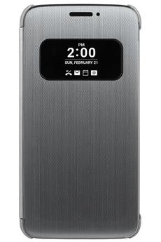 Housse et étui pour téléphone mobile ETUI QUICK COVER ARGENT POUR LG G5 Lg