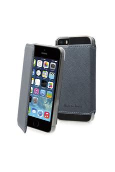 Housse pour iPhone ETUI CRYSTAL FOLIO GRIS POUR IPHONE 5/5S Muvit