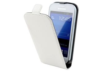 Housse et étui pour téléphone mobile Etui à rabat blanc pour Samsung Galaxy Trend / Trend Lite Muvit