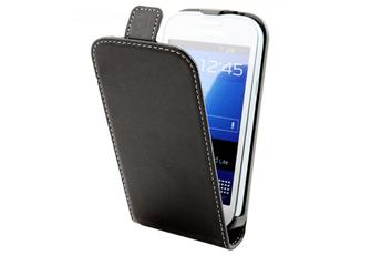 Housse et étui pour téléphone mobile Etui à rabat Noire pour Samsung Galaxy Trend / Trend Lite Muvit