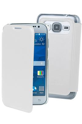 Housse et étui pour téléphone mobile ETUI FOLIO BLANC POUR SAMSUNG GALAXY CORE PRIME Muvit
