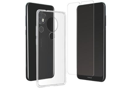 Coque smartphone Muvit PACK COQUE SOUPLE TRANSPARENTE +VERRE TREMPE: NOKIA 6.2/7.2