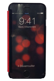 Housse et étui pour téléphone mobile ETUI A RABAT GLASS & MIRROR ROUGE POUR IPHONE 6/6S My Way