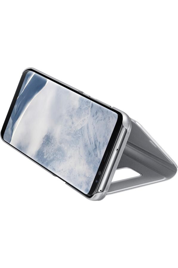 housse et tui pour t l phone mobile samsung etui clear view cover argent pour samsung galaxy s8. Black Bedroom Furniture Sets. Home Design Ideas