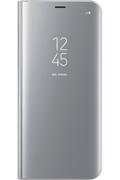 Housse et étui pour téléphone mobile Samsung ETUI CLEAR VIEW COVER ARGENT POUR SAMSUNG GALAXY S8 PLUS