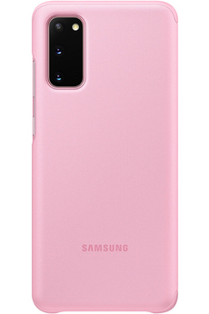 Coque smartphone Samsung Clear View cover pour Samsung Galaxy S20 Rose