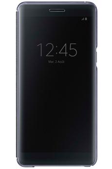 Housse et étui pour téléphone mobile ETUI CLEAR VIEW COVER NOIR POUR SAMSUNG GALAXY Note 7 Samsung