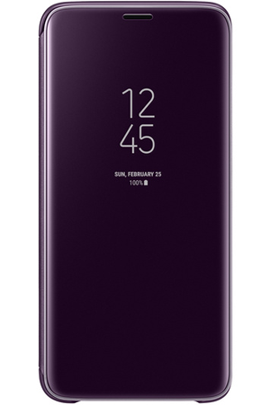 coque smartphone samsung etui clear view pour galaxy s9 violet darty. Black Bedroom Furniture Sets. Home Design Ideas