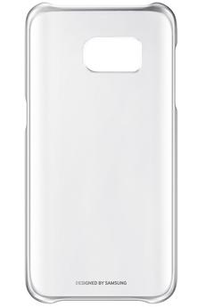 Housse et étui pour téléphone mobile COQUE CLEAR COVER ARGENT POUR SAMSUNG GALAXY S7 Samsung