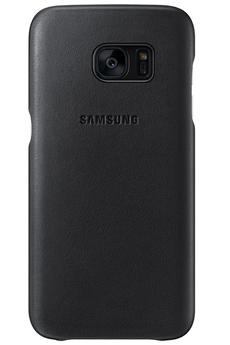Housse et étui pour téléphone mobile COQUE DE PROTECTION EN CUIR NOIR POUR SAMSUNG GALAXY S7 Samsung