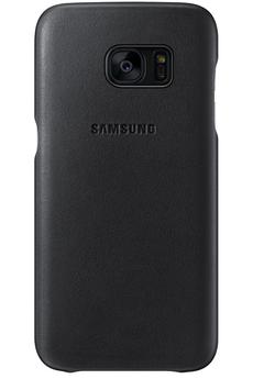 Housse et étui pour téléphone mobile COQUE DE PROTECTION EN CUIR NOIR POUR SAMSUNG GALAXY S7 EDGE Samsung