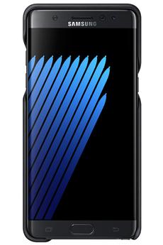 Housse et étui pour téléphone mobile COQUE DE PROTECTION EN CUIR NOIR POUR SAMSUNG GALAXY NOTE 7 Samsung