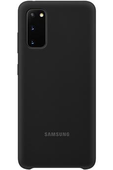 Coque smartphone Samsung Coque Silicone Noire pour Samsung Galaxy S20