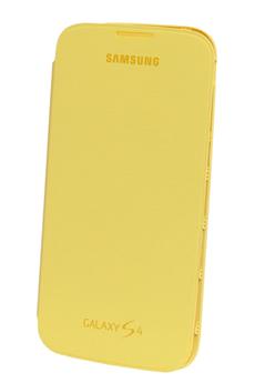 Housse et étui pour téléphone mobile ETUI FOLIO GALAXY S4 JAUNE Samsung