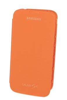 Housse et étui pour téléphone mobile ETUI FOLIO GALAXY S4 ORANGE Samsung