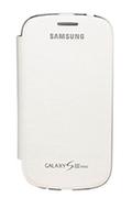 Housse et étui pour téléphone mobile Samsung ETUI GALAXY S3 MINI BLANC