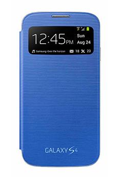 Housse et étui pour téléphone mobile ETUI GALAXY S4 BLEU Samsung