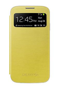 Housse et étui pour téléphone mobile ETUI GALAXY S4 JAUNE Samsung