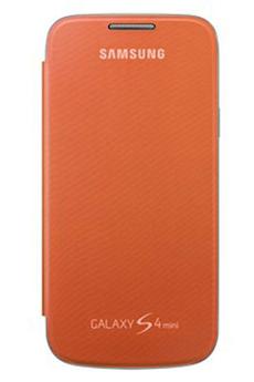 Housse et étui pour téléphone mobile ETUI GALAXY S4 MINI ORANGE Samsung