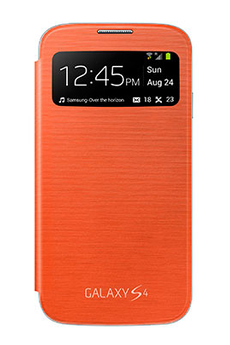 Housse et étui pour téléphone mobile ETUI GALAXY S4 ORANGE Samsung