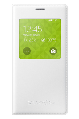 L'étui Samsung Clear Cover Blanc protège efficacement votre smartphone Samsung Galaxy S5 Mini. Le rabat avec fenêtre, permet de visionner rapidement certaines infos sans avoir à ouvrir votre étui. Ingénieux La fenêtre transparente permet d'afficher certai